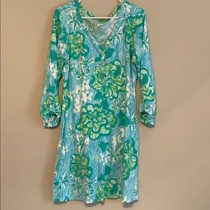 LILY PULITZER GREEN AND BLUE DRESS